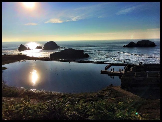 Sanfrancisco SanFranciscoBay California Horizon Over Water Water Sea Tranquil Scene Scenics Tranquility Sunset Sky Sun Beauty In Nature Cloud Majestic Tourism Nature Sunbeam Outdoors Non-urban Scene Rock Formation