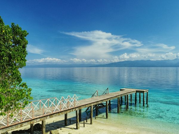 Perspectives On Nature Water Railing Sea Blue Sky Day Outdoors Tree Cloud - Sky Nature Beauty In Nature Scenics No People Horizon Over Water AmbonIsland Beach Sea Life Nature Dji Be. Ready.