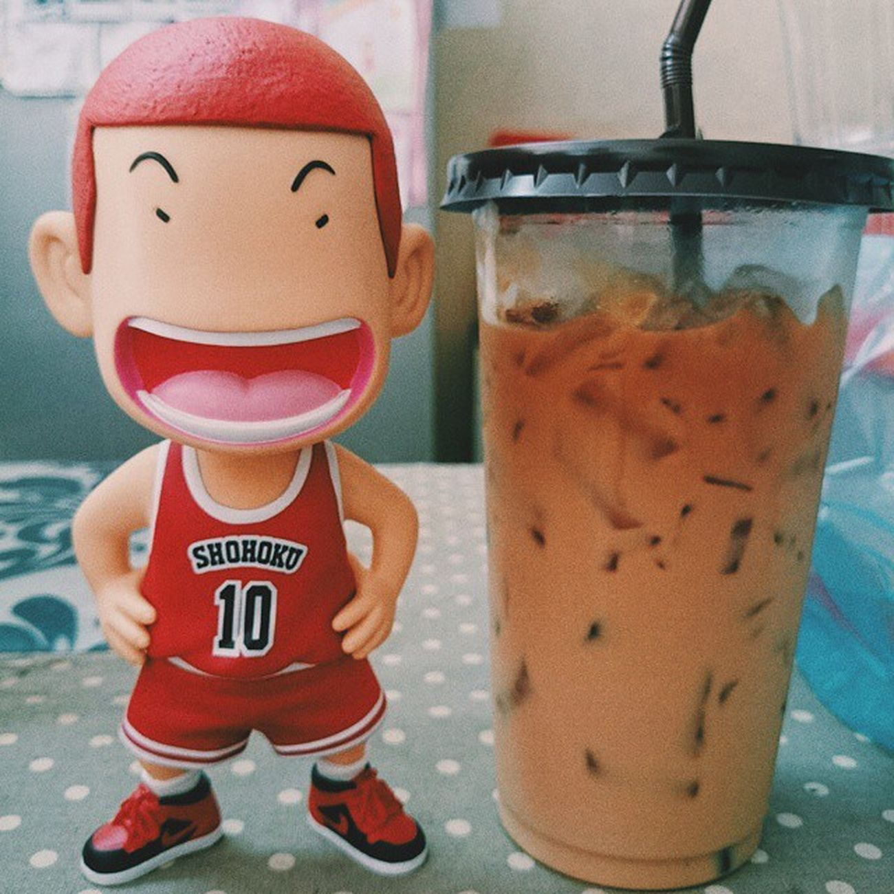 Dunk it Vscocam SlamDunk Sakuragi Coffee Toy Smile