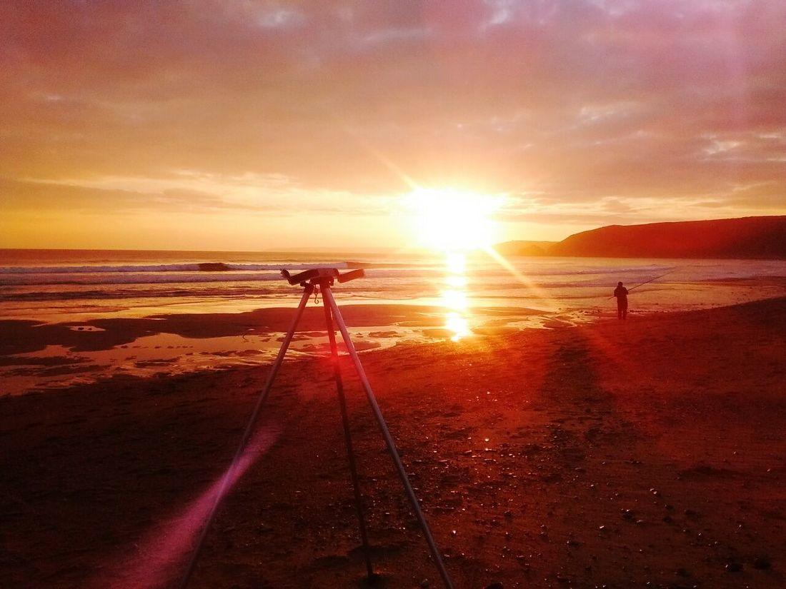 Evening at Praa Sands Seascape Shore Fishing Ocean Surf Beach Sea Sea Angling Cornwall