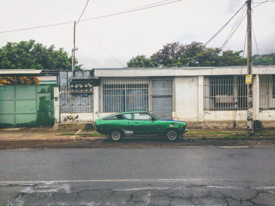 Datsun Nissan Nissan Sunny Sunny 120Y Hatchback Coupè Oldtimer Costa Rica Santa Ana Streetphotography Ghetto Oldschool Oldstyle Car Streetcar Green Green Car Fastback