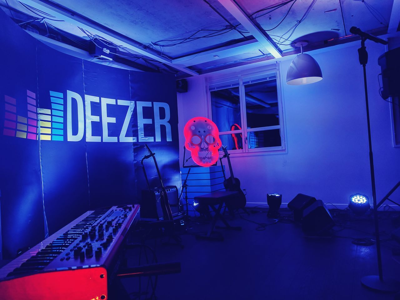 Concert Deezer Week4 52WeekChallenge Concert Photography WorkLife DeezerLife Stage - Performance Space No People Indoors  Illuminated Neon Neon Lights Private Concert Night Shot 52 Week Challenge 52weeksplan 52frames 52 Weeks