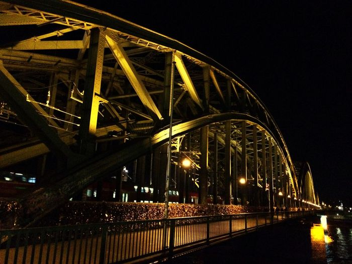 Bridge - Man Made Structure Connection Architecture Night Built Structure Outdoors City Sky No People Illuminated