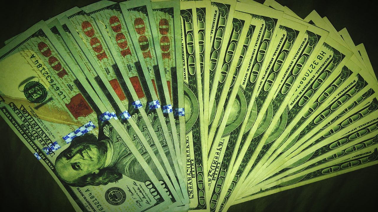 No People Close-up Currency $100 $1000 Paycheck Cash Cash Is King Cash In Hand Money New Money Old Money