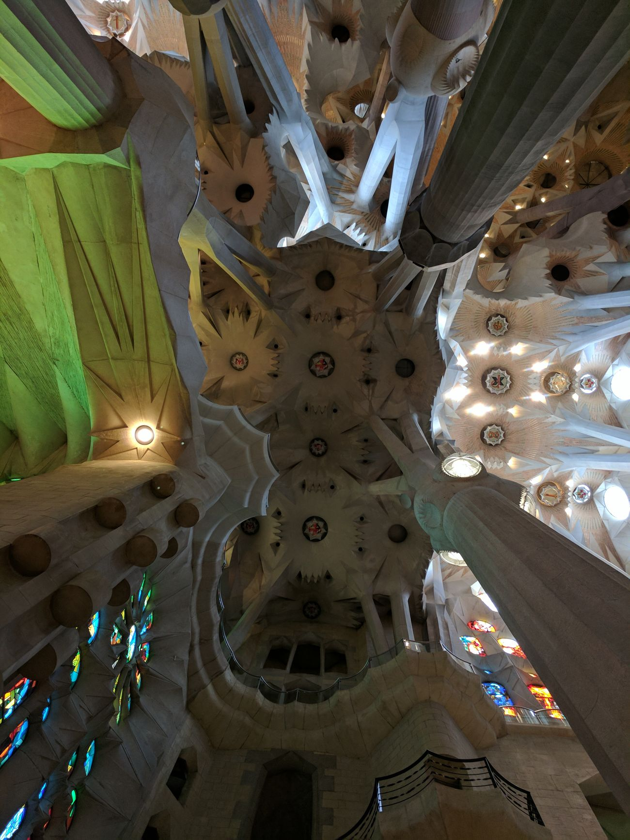 Masterpiece! Architectural Design Architecture Building Ceiling Day Gaudi Indoors  Interior Design Light And Shadow Masterpiece Place Of Worship Pole Spirituality