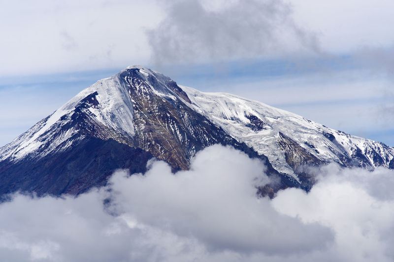Ice-capped volcano at Kamchatka (Tolbachik) Cloud - Sky Far East Icq-capped Kamchatka Mountain Peak Russia Shoqbox Show