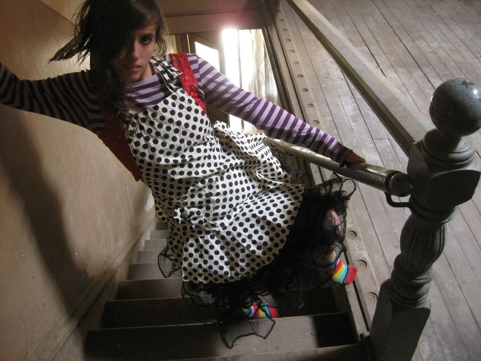 Aliceinwonderland Magical One Person One Woman Only Photography Spacial Dislocation Staircase Young Women