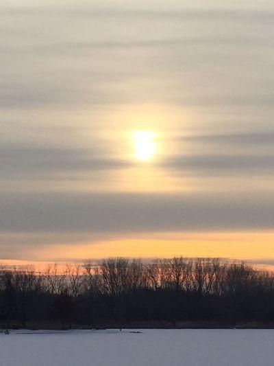Sunset. WisconsinSunset wisconsinwinter