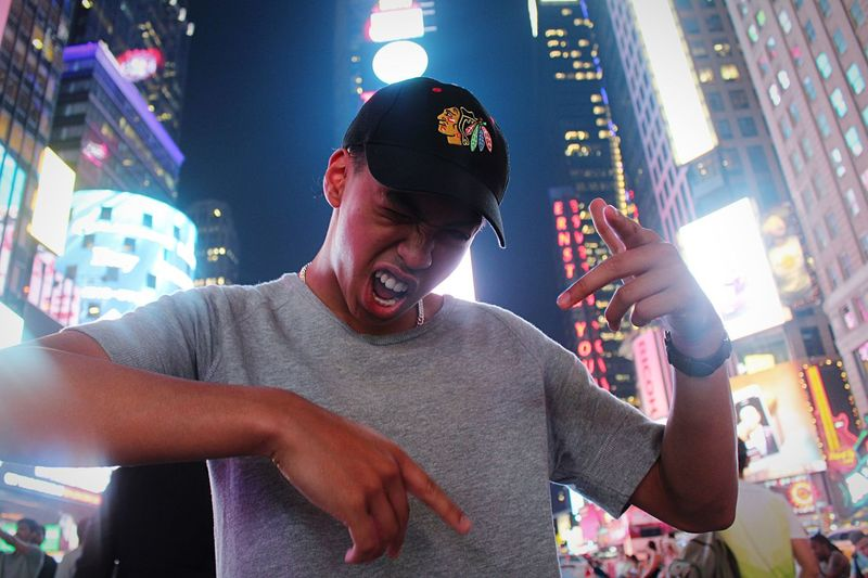 kickin' it in NYC! That's Me New York TimesSquare Manhattan New York City Self Portrait Around The World