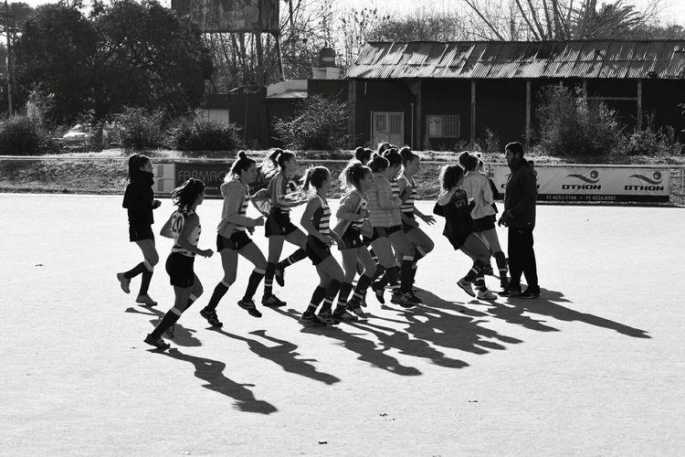 Precalentando Hockey Sports Black & White