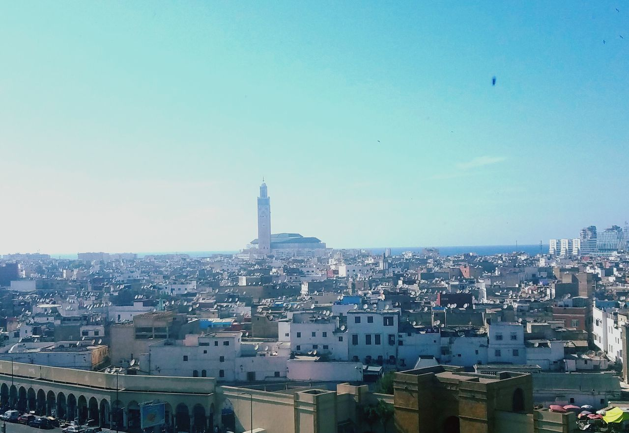 Casablanca Mosquee City Morocco Lovely View Cityscape City Travel Destinations Sky Architecture Skyscraper Outdoors Downtown District Building Exterior Urban Skyline Day Modern Aerial View No People First Eyeem Photo