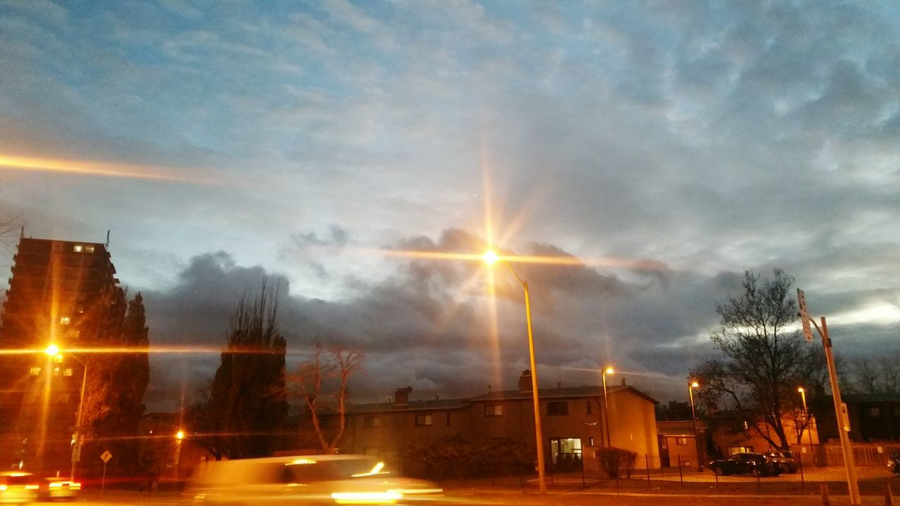 Cloudy Evening Sky Evening Way Back Home Mood Everyday Gloomy Weather Weather Sky And Clouds Sky Landscape Cars At Night Neighborhood North America Residential  Lights November December Winter Townhouse Apartment Before Rain
