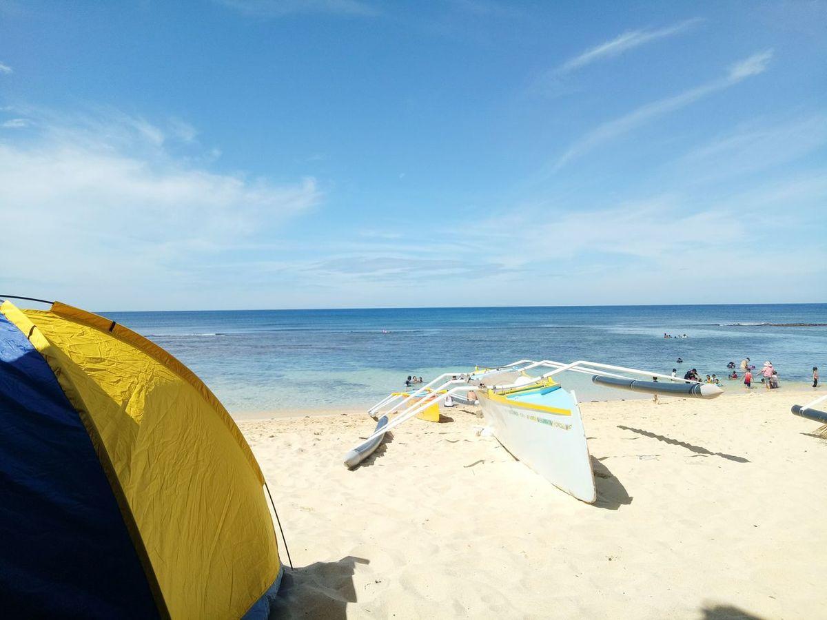Beach Sea Sand Horizon Over Water Cloud - Sky Beauty In Nature EyeEm Best Shots - Landscape EyeEm Best Shots - Nature EyeEmNewHerе The Week On EyeEm EyeEm Gallery EyeEm Best Shots Learn & Shoot: Simplicity Beauty In Nature Vacations Camping Place Camping Beach PangasinanTravelPH PangasinanEscapade Pangasinan, Philippines Patar, Bolinao, Pangasinan