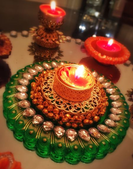 Diwali Diwali 2015 Diwalicelebrations Candles Lights Light Flame Glowing Glow Festive Season Festival Festive Colors Colorful Centrepiece