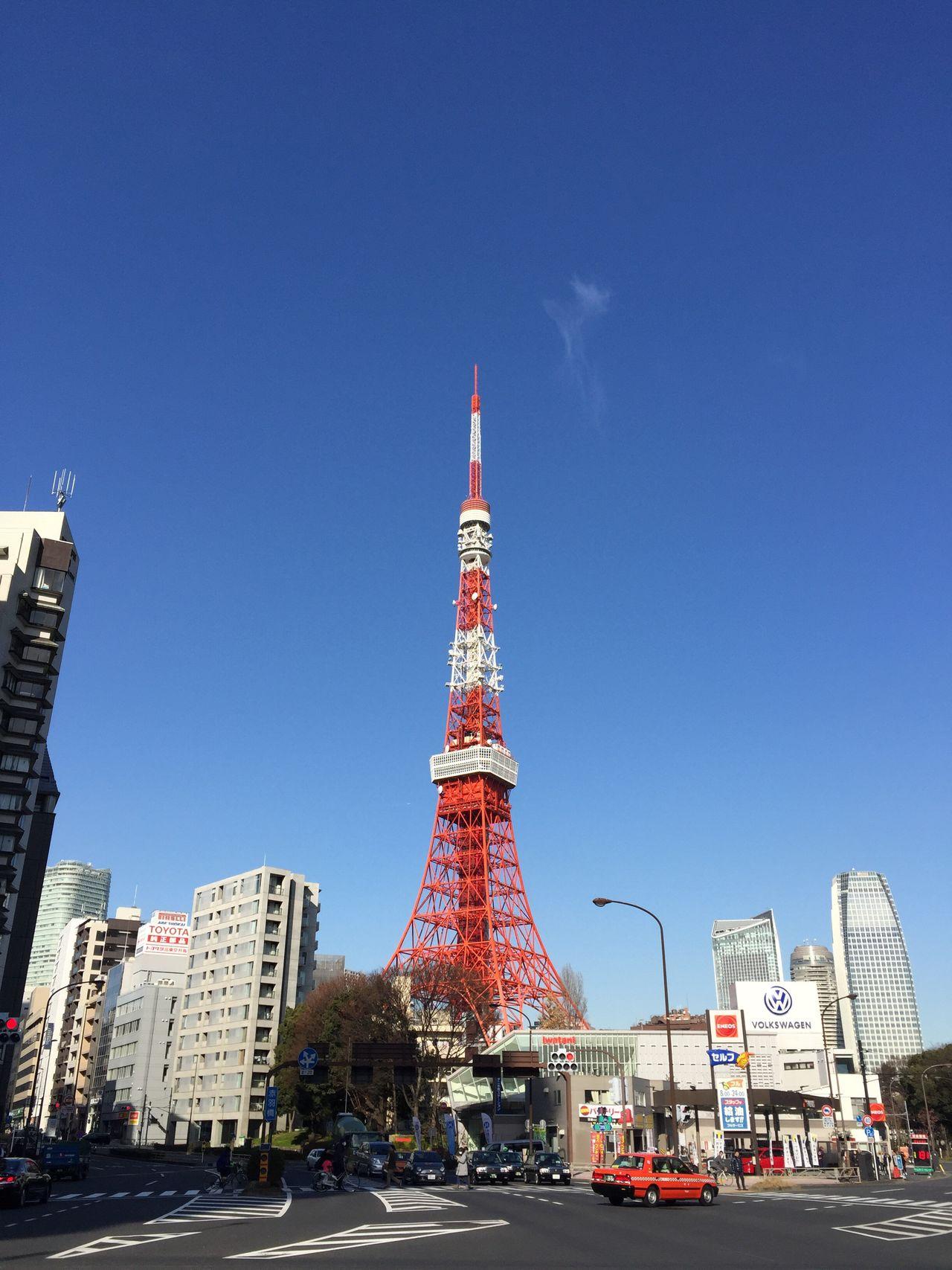やっぱこっちがイイな(#^.^#) 東京タワー Tokyo Tokyo Tower Japan Sky Blue 青空 あおぞら スカイツリー Sky tree Skytree Skytreetokyo
