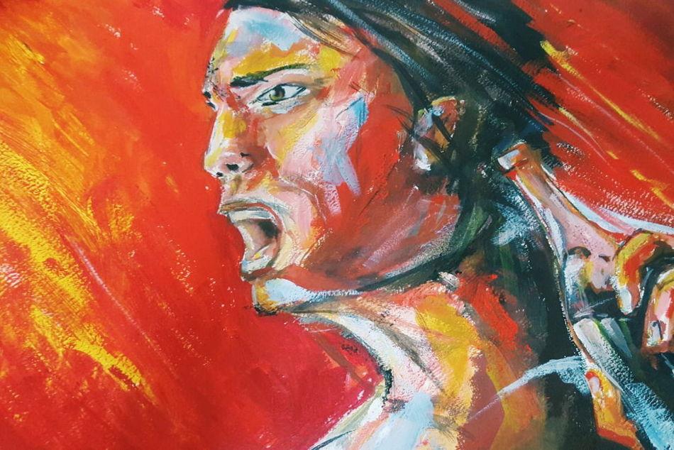 "My own artwork. ""Wrath"" ArtWork Art Art, Drawing, Creativity Acrylics Canson"