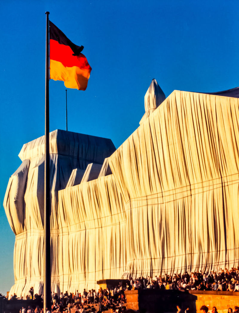 Berlin Day Flag German Flag Outdoors Reichstag Reichstagsgebäude Wrapped Reichstag