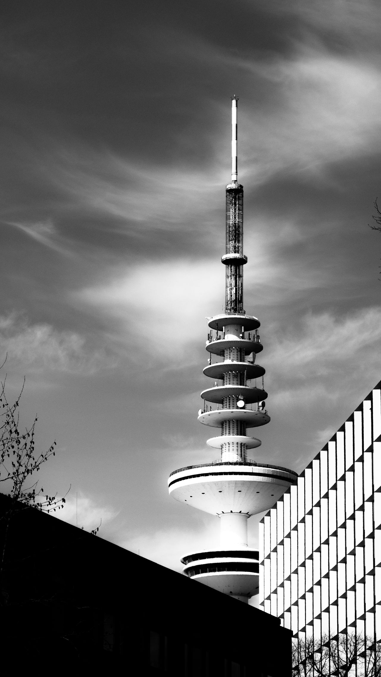 TV Tower Antenna Architecture Black And White Blackandwhite Broadcast Broadcasting Built Structure Bw Bw_collection City Cloud - Sky Communication Day Heinrich Hertz Turm Low Angle View Modern Needle No People Sky Skyscraper Top Tower Transmission TV Tower