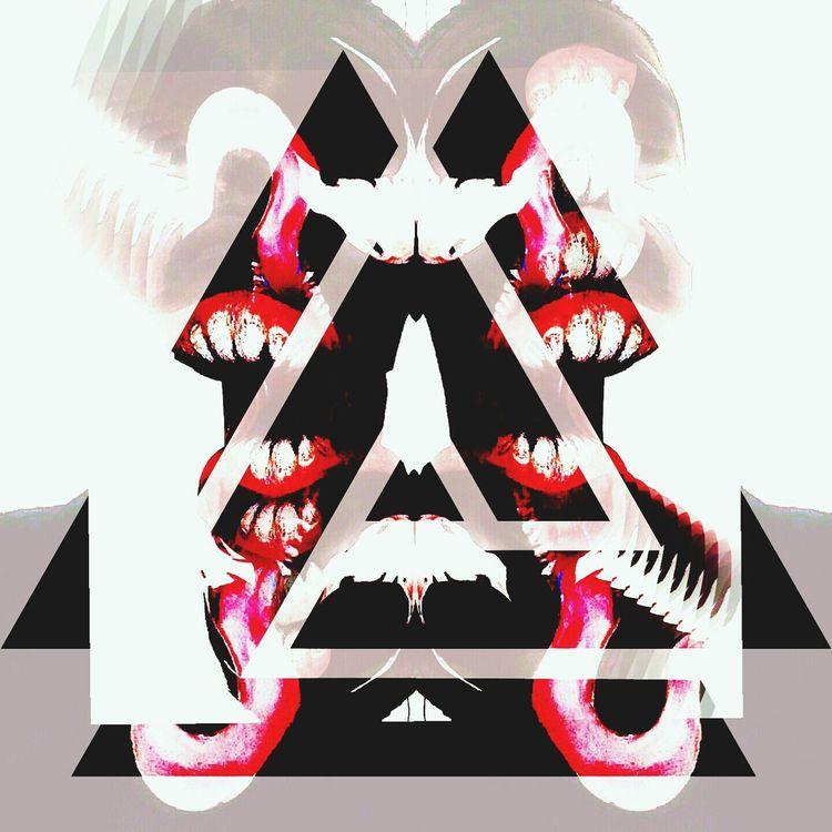 Relax Meditation Inkblot Twofaced Mouth Nunnneykarma ArtWork Readmylips Bueaty Monster Inside Me