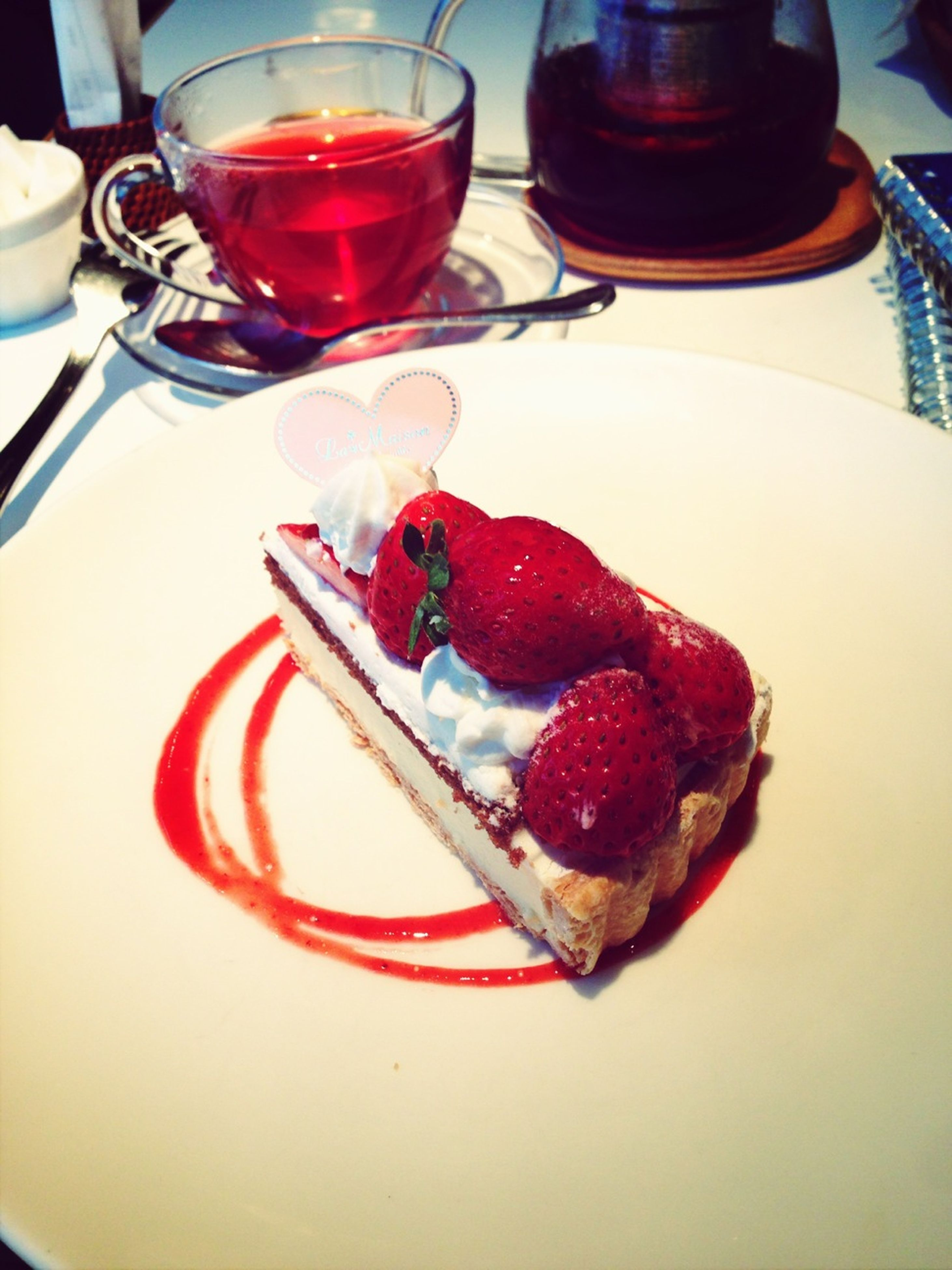 food and drink, food, freshness, sweet food, indoors, dessert, ready-to-eat, strawberry, indulgence, fruit, still life, plate, unhealthy eating, table, cake, temptation, red, close-up, serving size