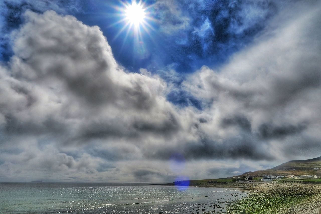 Sunburst over Keel West - Achill Island, Ireland - 24 April 2016 April2016 April 2016 Ireland Irish Coast Cloudporn Atlantic Ocean WestCoast Achill Achill Island Mayo Ireland Mayo County Mayo Dooagh Sunburst Enjoying The Sun Coastline Wildatlanticway The Great Outdoors With Adobe