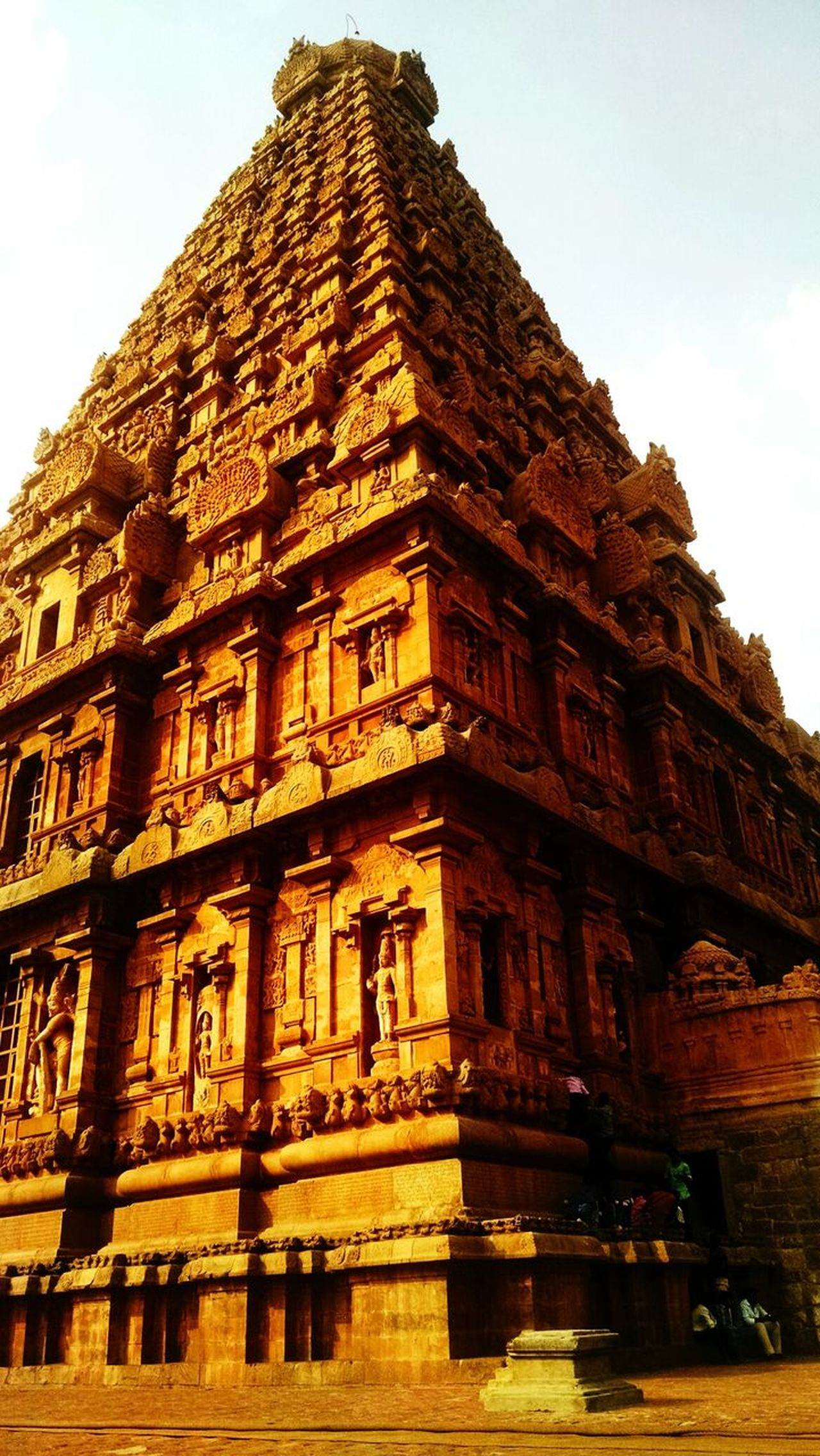 Architecture Religion Travel Destinations Low Angle View History Travel Built Structure Day Building Exterior Ancient Civilization King - Royal Person No People Sky Place Of Worship Spirituality Archaeology Tamilnadu India Tanjore Big Temple Monument Vacations Outdoors Beauty