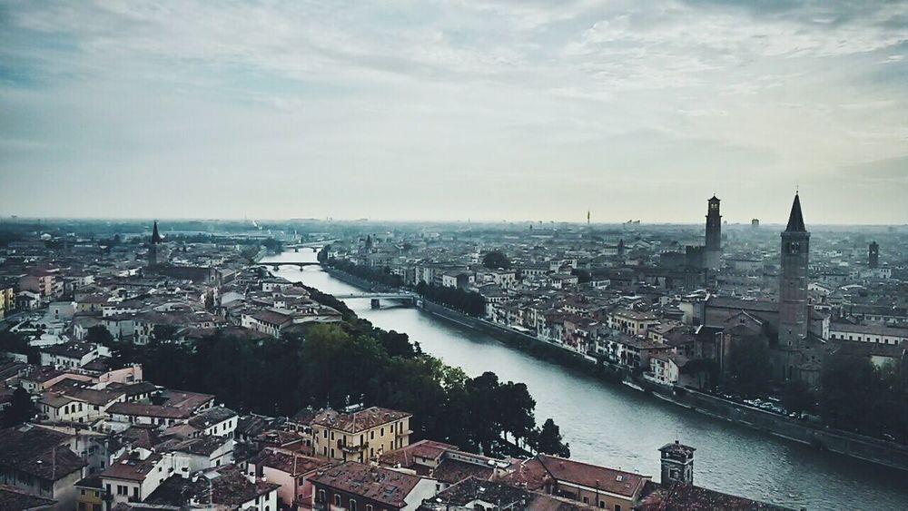 Verona dall'alto Verona Italy Cityscape Adige River
