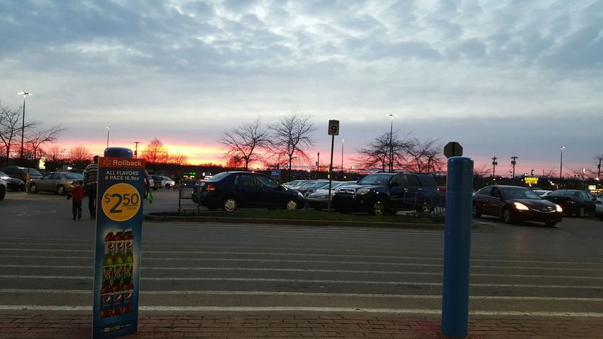 Sunset No People Cars Parking Lot End Of The Day No Filter