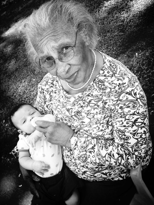 #With My Granny !