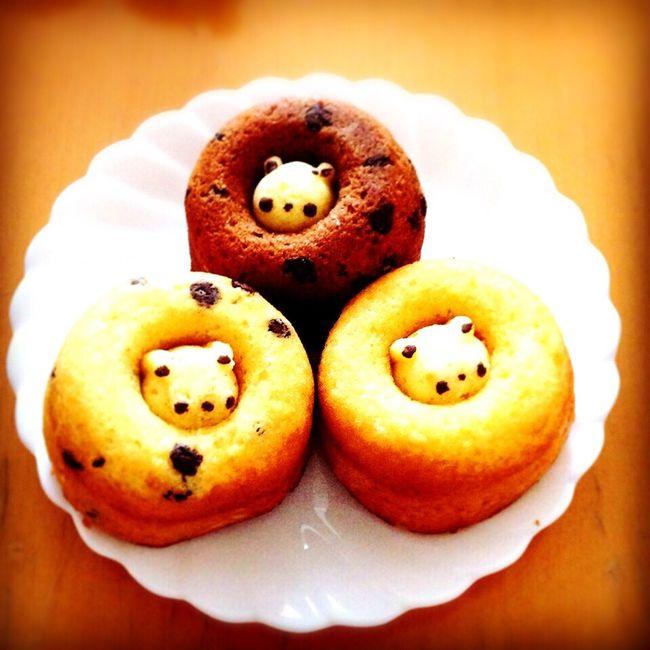 まんなかの、ちいさいクマさんも可愛いけど食べちゃうの●´ᆺ`●♪最後のひとくち。 シレトコドーナツ ドーナツ おみやげ おみや 北海道 知床 くま