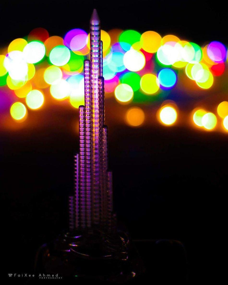 The dream.. Dream Night Lighting Equipment Glowing Electric Light Dark No People Multi Colored Nature Illuminated Bokeh Love Bokeh Photography Bokeh Bright Bokeheffect Bokehlicious Bokehlicious Photography Dreams Dubai Dubai Burj Khalifa Burjkalifa Tallest Building