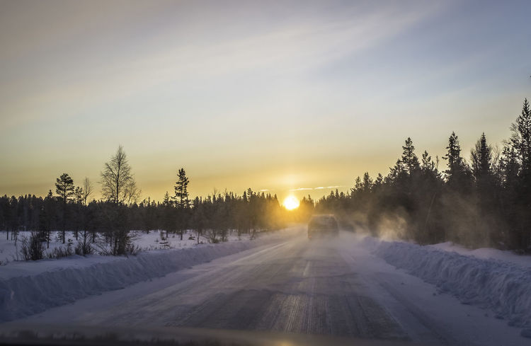 extremely low winter sun - dangerous driving conditions Cold Temperature Danger Danger Of Slipping Dangerous Dangerous Driving Dazzling Dazzling Sunlight Driving Driving Around Flare Flares Icy Icy Streets Low Sun Low Sun Effect Road Slippery Slippery Road Slippery Roads Snow Street Winter Winter Wintertime Car