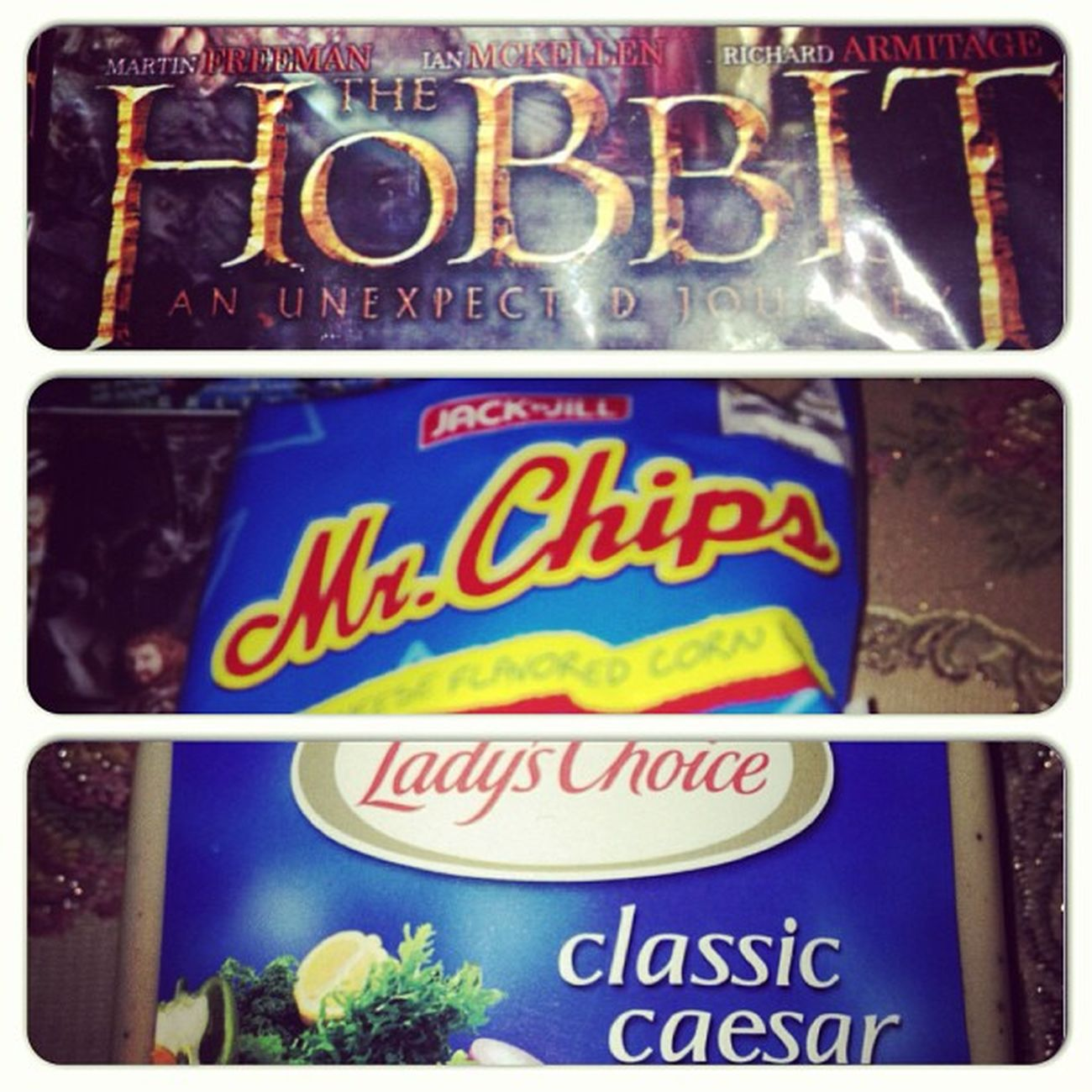 Nw TheHobbit Midnight Snacks Mr. Chips favorite dip caesar perfect life comfort food