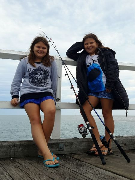 My Girls,....Kyann and Imogen,....love ya's 😙 Two People Friendship Front View Cloud - Sky Togetherness Sky People Young Women Leisure Activity Only Women Sea Standing Bonding Outdoors Sisters ❤ Fishing