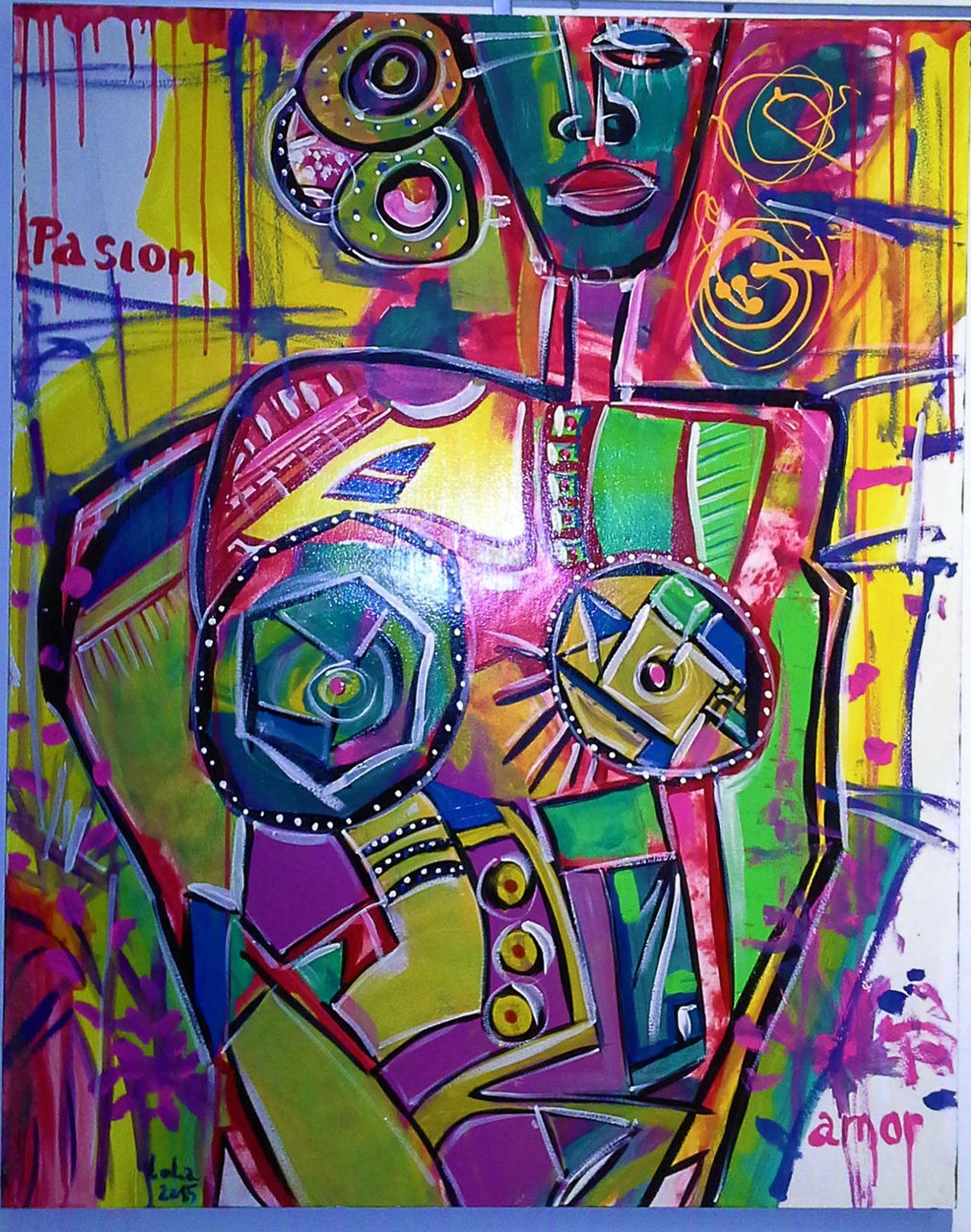 Artista Lorena Mas, for sell Art Arte Multi Colored Paint Pintura