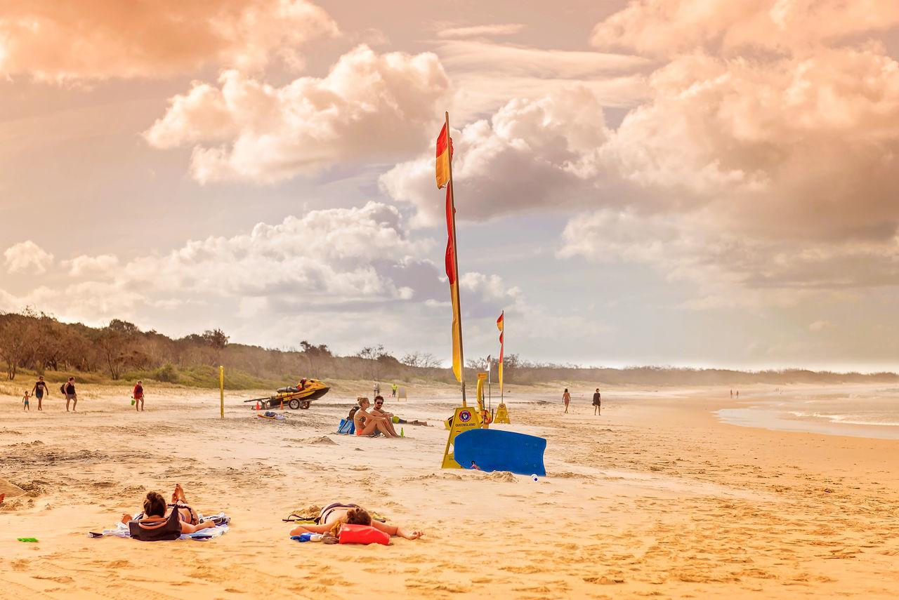 Beautiful stock photos of flaggen, Australia, Beach, Beauty In Nature, Cloud - Sky