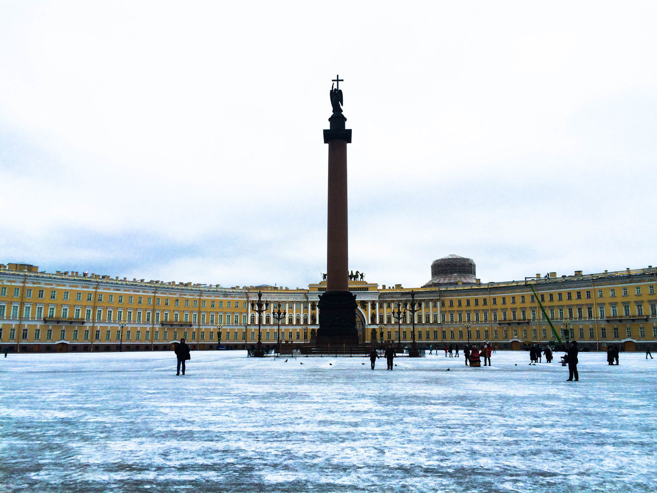 Architecture Building Exterior Built Structure City Cold Temperature Cultures Day Ermitage Eye4photography  EyeEm EyeEm Best Shots EyeEm Gallery Frozen Ice Skate Outdoors People Real People Sankt-Petersburg Sculpture Sky Snow Statue Tower Travel Destinations Winter