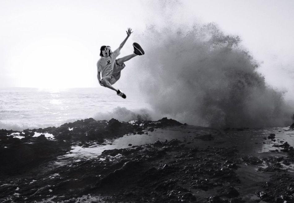 Q Quantum Leap Live life on the wild side! Jump Leap Leap Of Faith Showcase March Oceanspray Spray Crashing Waves  Joyful Jumpforjoy Extraordinary  Perfectshot Wild Wildside Youth Of Today Jubilant Danger Boy Nature Freedom California Dreaming SaraLeeMcKinstry The Portraitist - 2016 EyeEm Awards The Essence Of Summer