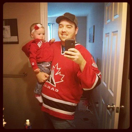 Showing our Canadian pride. Wearewinter Hockeycanada