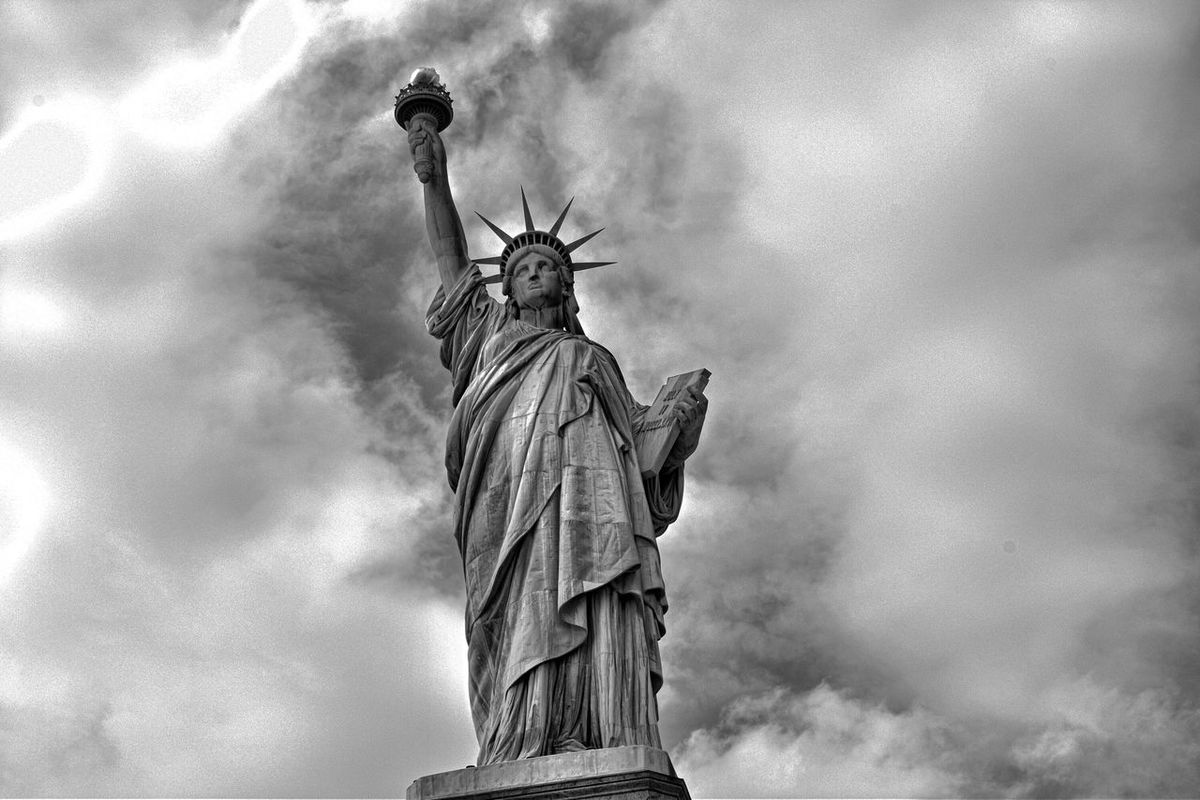 Statue Of Liberty Black & White Beautiful New York City Beauty Redefined EyeEm Best Shots Visual Thought 43 Golden Moments Showcase July Battle Of The Cities Architecture