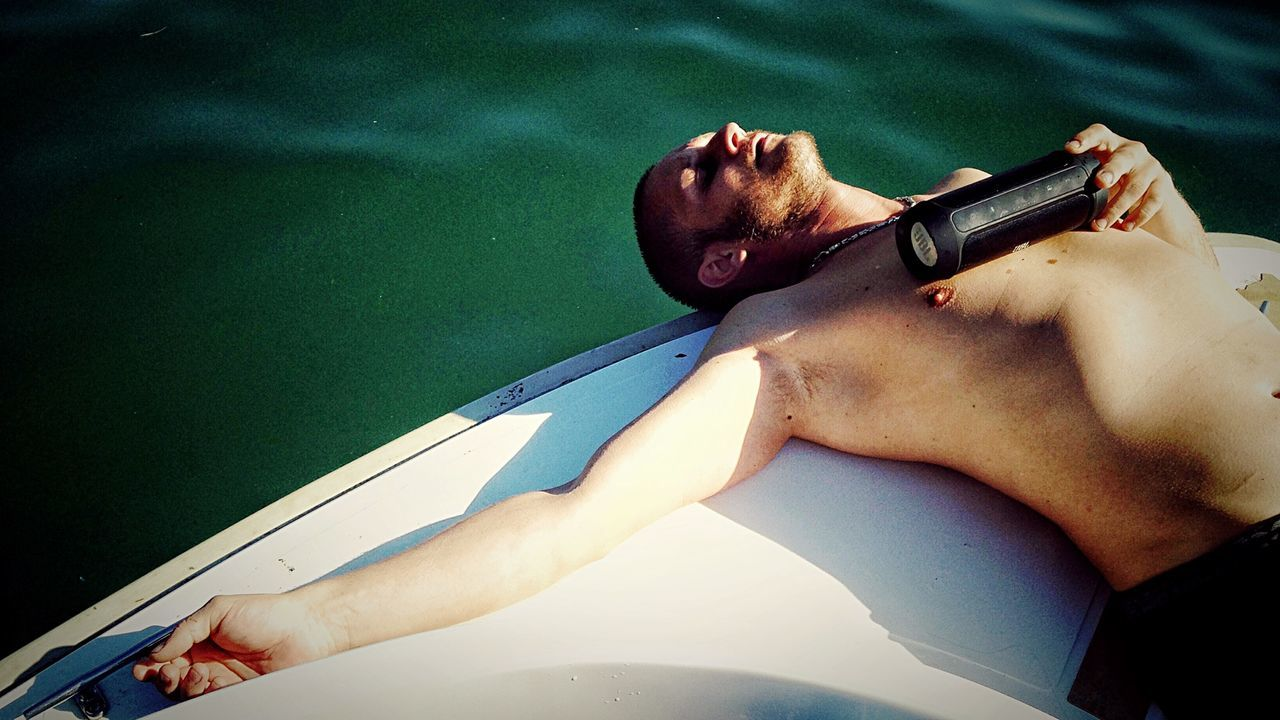 Friendship Enjoying Life Sleeping Boat Aix Les Bains Lac Holiday Watter Summer France Countryside Bugey Simple Moment Alone In The World Dream Nature Happiness IPhoneography Light Peace Portrait Music People And Places