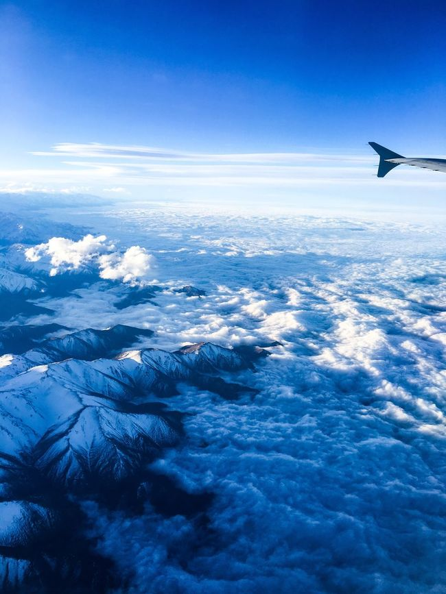 Flying overArgentina and Chile Flying Airplane Argentina Mountains Sky Cloud Clouds And Sky Cloudscape Losandes Cordillera De Los Andes Chile