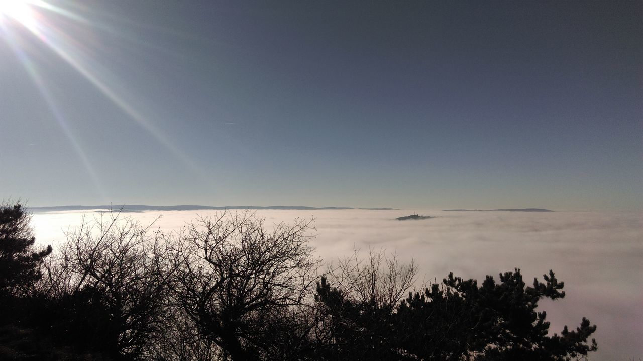 Above the fog Sky Nature Clear Sky No People Above The Clouds Above The Fog Fog Island In The Sky Sunbeams Slovenia View From Above Viewpoint No Edit No Filter See Of Clouds EyeEmNewHere