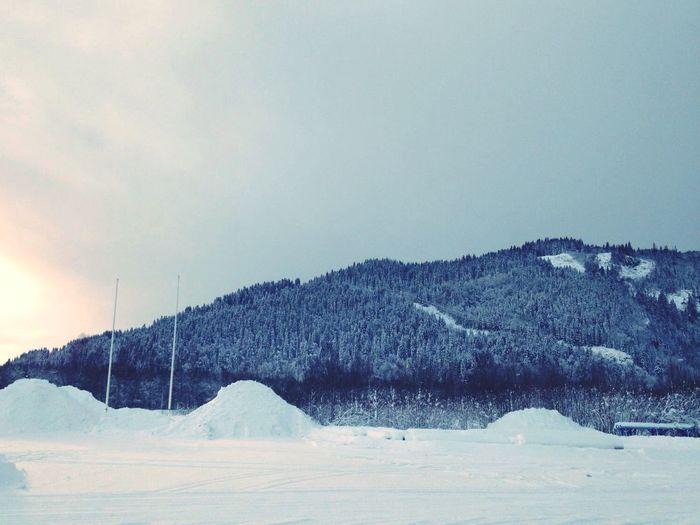 Norway Snow Scandinavia Winter Beautiful Snowy Slopes in Orkanger, Norway First Eyeem Photo Nature Sør-trøndelag Orkdal