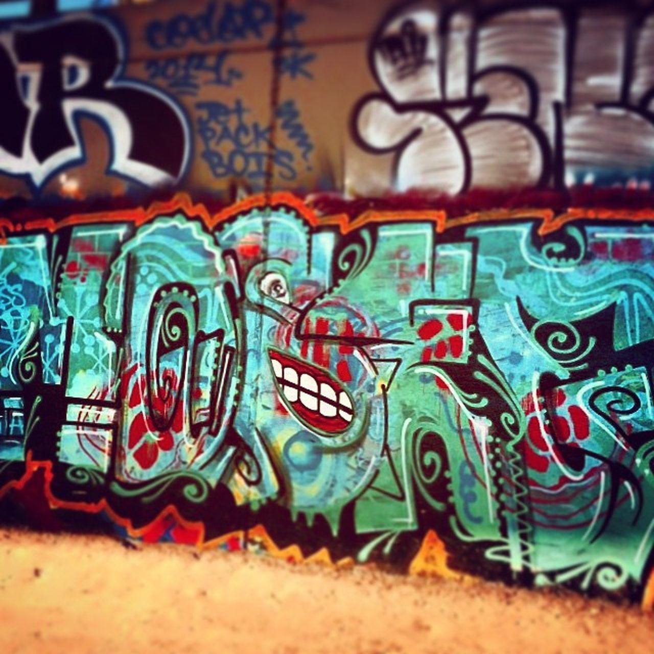 Seattle graffiti under the Eastlake Bridge. Hatehatehate