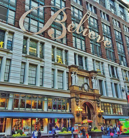 I believe! Hello World Streetphotography Eyemphotography Urban Lifestyle EyeEm Best Shots Taking Photos Newyorkcity Nyc Newyork Believe Macys Xmas Windows
