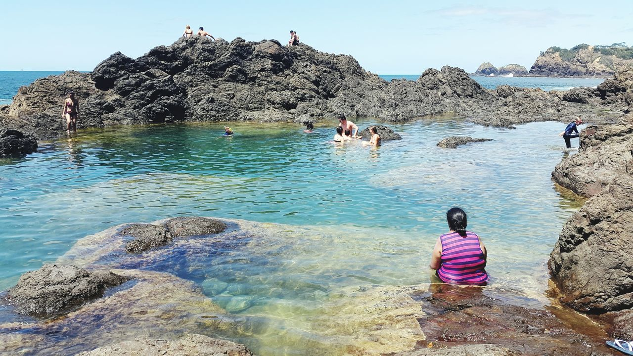 Summer days 🌞 Mybackyard New Zealand Natural Mermaid Pools