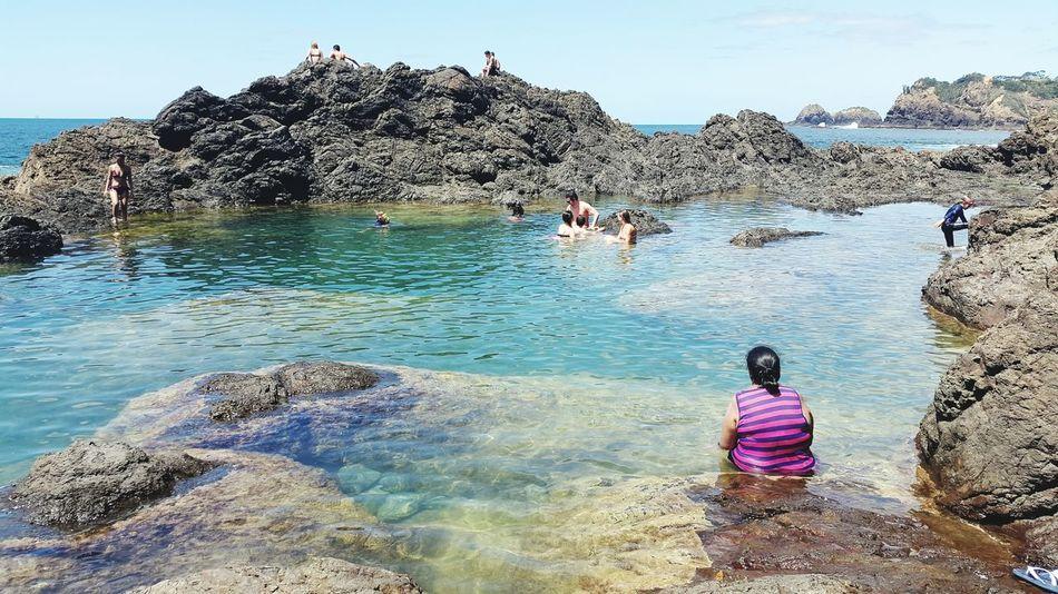 Summer days 🌞 Mybackyard New Zealand Natural Mermaid Pools