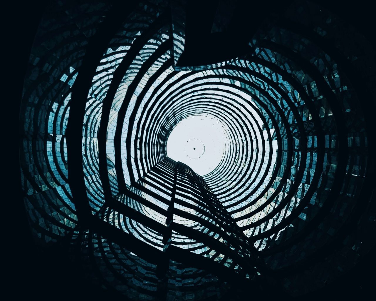 Architectural interior of a tower Architecture Built Structure Circle Live For The Story Low Angle View No People Pattern Spiral