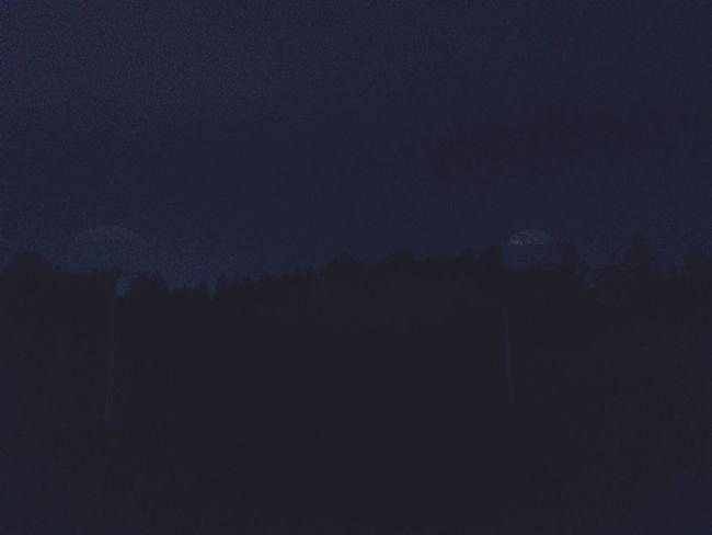 Beautiful foggy evening. Guelph Ontario Foggy Evening Sky